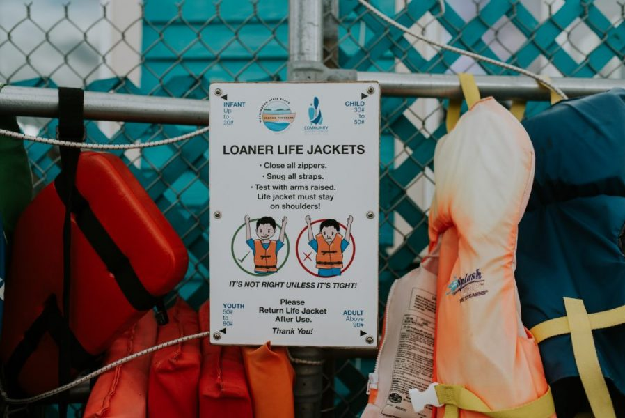 Community Boating Center - life jackets