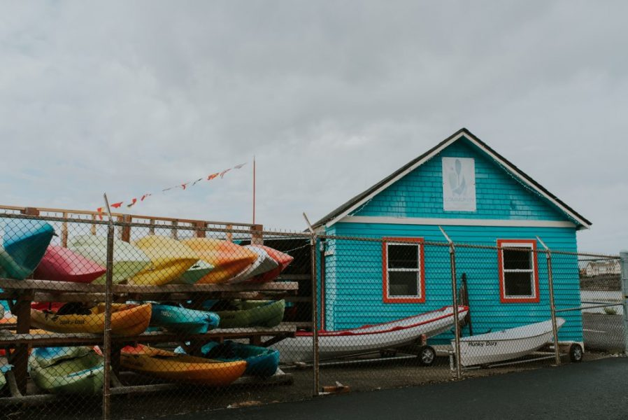 Community Boating Center - exterior with boats