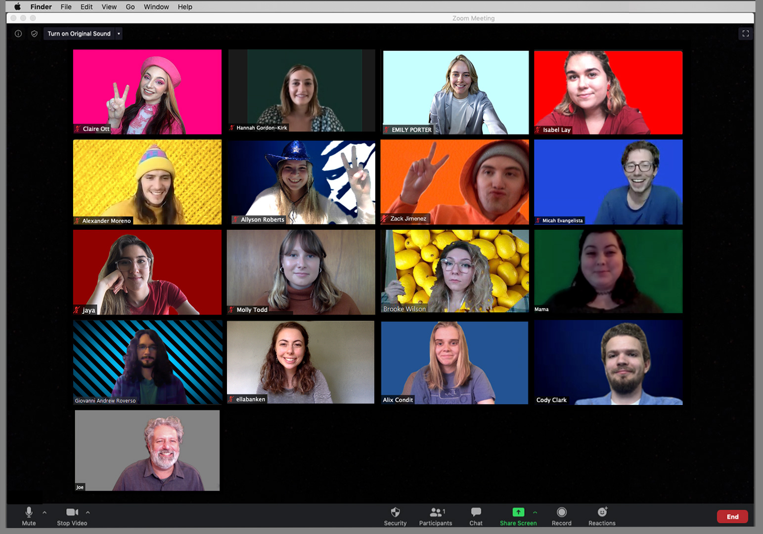 Photo of Spring 2020 Advanced Visual Journalism Class