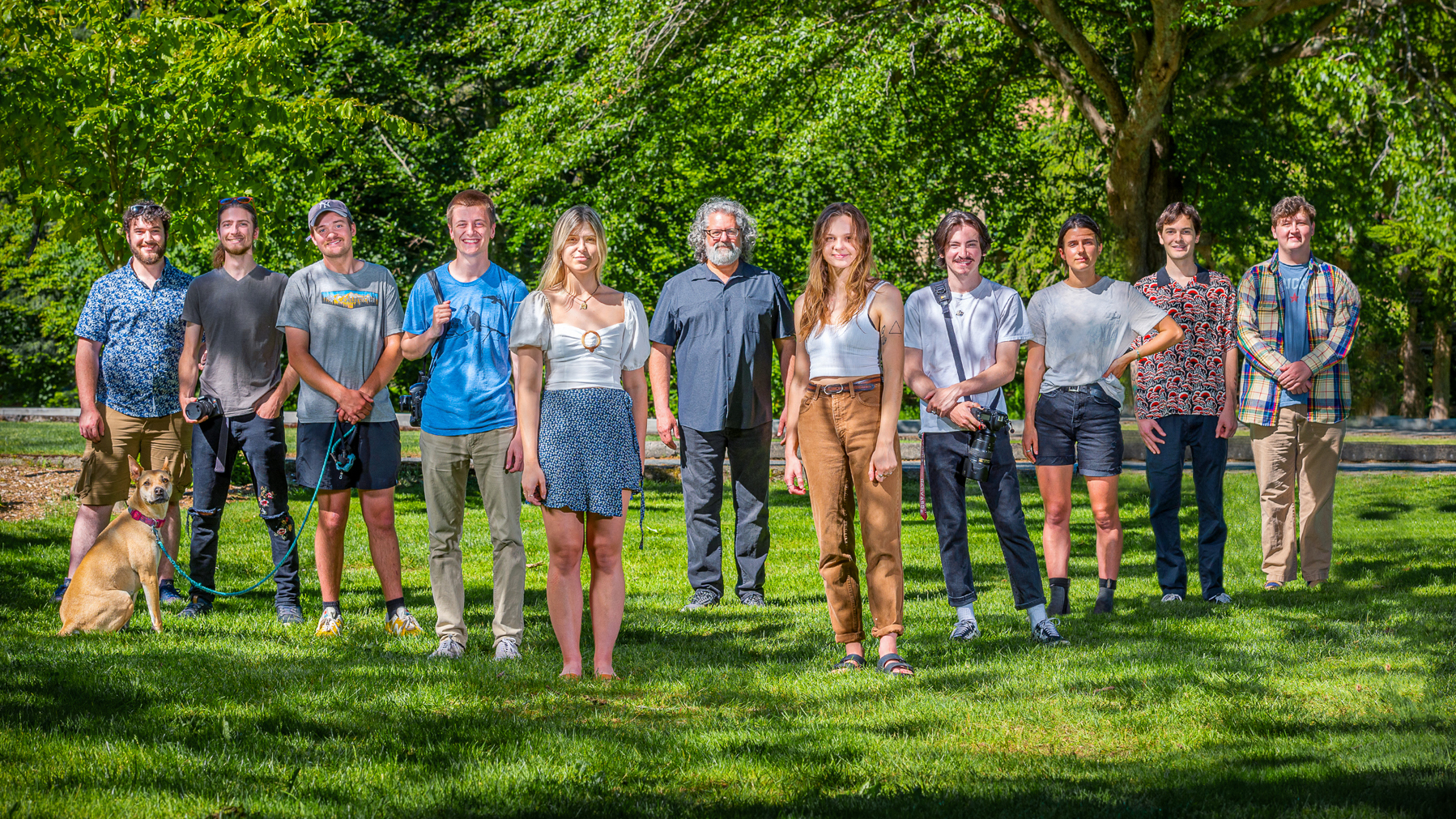 Photo of Fall 2020 Advanced Visual Journalism Class